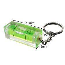 40 x 15 mm Spirit Leveller Bubble Level Caravan, Motor Home Tiler Key Ring