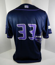 2017 Syracuse Chiefs Jacob Turner #33 Game Used Signed Purple Cancer Awr Jersey