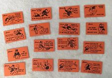 Vintage Monopoly Cards Orange C.1936 Replacement Pieces