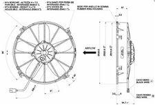 Spal 331mm blasend 24V Motorsport Lüfter  2760m³ VA01-BP70/LL-36S Original