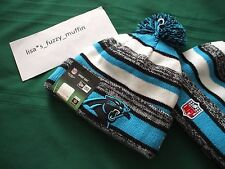 Carolina Panthers New Era knit pom hat beanie 2014-15 NFL OnField 100% AUTHENTIC