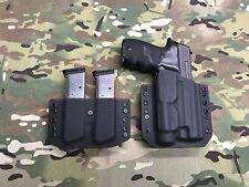 Black Kydex Light Holster SIG P220 Streamlight TLR-1 w/Matching Mag Carrier