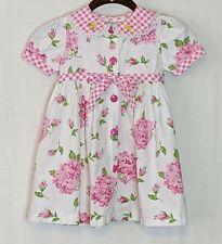 Vintage Baby Togs Girls 4T Cotton Pink Floral Dress