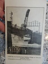 cutting on a postcard   railway bridge  york   crane etc