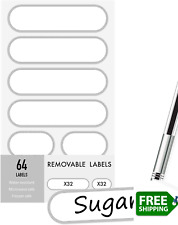 Removable Write On Food Labels Waterproof Kitchen Labels For Pop Food Storage C
