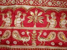 Señoras Indio Sari de seda pura con trabajo zari
