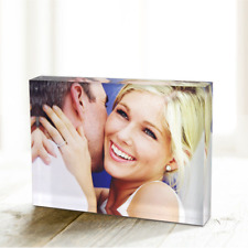 Personalised Photo Crystal Glass Block - Custom Printed With You're Picture