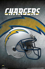 LOS ANGELES CHARGERS Official Team Logo Helmet Design NFL Wall POSTER