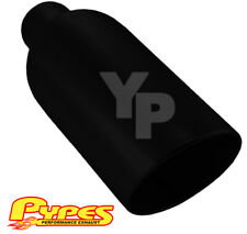 """Ford Diesel Truck 4"""" In 10"""" Out 18"""" Long Black Monster Exhaust Tip, Weld On"""