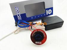 Universal 12V Car Engine Start Red Push Button Switch Ignition Starter Kit LED