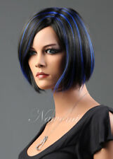 New Short Straight Bob Wigs Synthetic Wigs black blue two colors Women Lady Wigs