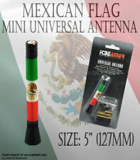 JDM 2 inch Mexican Flags support homeland Aluminum AM/FM Radio Car Antenna N174