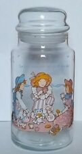 HOLLY HOBBIE VINTAGE GLASS CANISTER JAR 1989