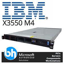 X3550 M4 Server CTO Chassis Twin Xeon E5-2600 V1/V2 Rackable IBM 1U