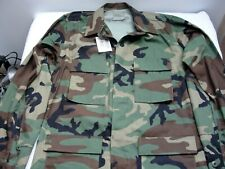 Woodland Camouflage BDU Cammie Shirt Blouse - Medium Long - New with Tags