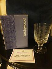 More details for wedgwood gwydr ynys llanddwyn island crystal glass goblet limited edition 1978