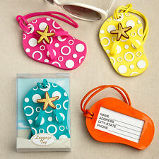 Colorful Flip Flop Luggage Tags Tropical Beach Bridal Shower Wedding Favors