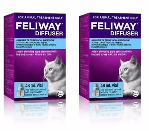 Feliway 48mL Diffuser Refill 2 Pack - Constant Calming and Comfort for Cats
