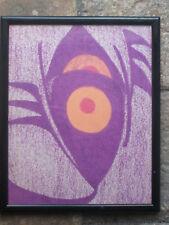 L' oeil ;Pastel surrealiste signe au dos Housman