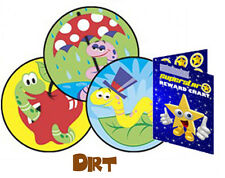 60 Scratch & Sniff Dirt Reward Stickers & Free Pocket Reward Chart Wiggly Worms