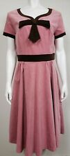 Laura Byrnes Womens Dress Size L Pinup Couture Black Label Pink Chocolate Velvet