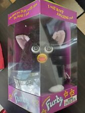 Vintage Black Furby with Pink Ears & Grey Eyes Tiger Electronics 1998 new 70-800