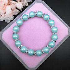 Fashion 8mm  Herb Green High Quality Dreamy Matte Pearl Beads Stretch Bracelet