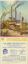 1954 A Reed Wilson janitorial supplies KCMO blotter Mississippi River Steamboats