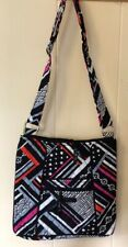 VERA BRADLEY Large Hipster Crossbody Bag Purse Northern Stripes