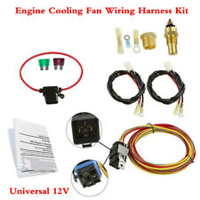 Heavy Duty Universal 12V Car Dual Electric Engine Cooling Fan Wiring Harness Kit