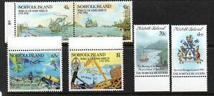Norfolk island 1990 History & Sirius sets mint
