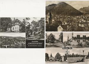 """79/393 AK FRIEDRICHRODA THÜR. + WERDAU SACHSEN + BLANKENBURG HARZ """"GROSSVATER"""""""