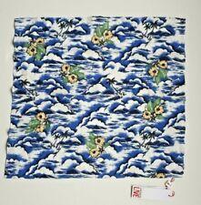 "Lacoste Men's Square Pochette Scarf Floral Cotton 22"" x 21"""