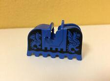 Lego Horse Blue Barding Ruffled Edge - Black Dragons 6086, 6085, 1584, 6060 Vtg
