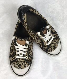 Coach Barrett Women's Signature Authentic Leopard/Cheetah Print Sneakers Sz: 6.5