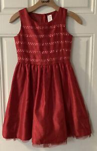 GYMBOREE GIRLS Size10 ~ RED SEQUIN Dress