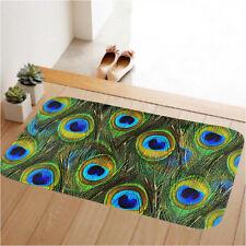 Peacock Anti-slip Doormat Floor Entrance Bedroom Kitchen Door Mat Pad Indoor Rug