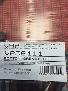 Kubota bottom gasket set 07916-29126 made by Vapormatic
