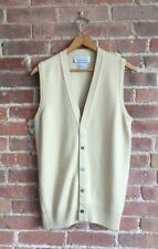 Ballantyne Men's Cashmere Cardigan Sweater Vest, Size Medium, Made In Scotland
