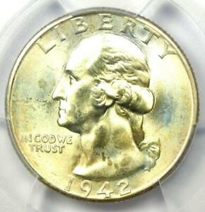 1942-D Washington Quarter 25C - Certified PCGS MS67+ Plus Grade - $1,500 Value!