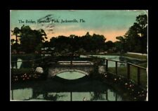 DR JIM STAMPS US BRIDGE RIVERSIDE PARK JACKSONVILLE FLORIDA VIEW POSTCARD