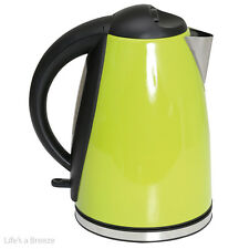 Kettle. 1.8L Low wattage stainless steel green kettle