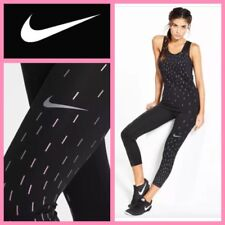 NEW $50 Nike PRO COOL Womens Training Capri Tights 855277 Black~Irid.Shine-on XS