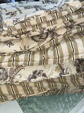 Ralph Lauren King Comforter Cecily Palmetto ? Tan Brown Khaki Reversible