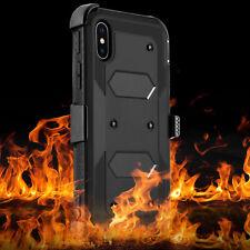 Shockproof Hybrid Hard Phone Case W/ Stand Holster Belt Clip Cover for Cellphone