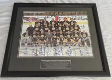 Boston Bruins Alumni Team Signed Autographed Photo w/ 20 Autos JSA Authenticated