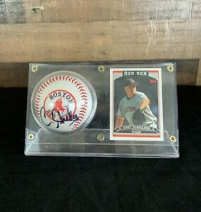Boston Red Sox Curt Schilling Autographed/Signed MLB Baseball with Card