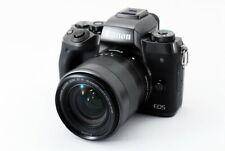 Canon EOS M5 24.2MP 18-55mm Lente Set Negro [ EXC Con / 8GB Tarjeta SD Japón