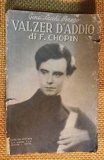 LIBRO CINA SACCHI-PEREGO - VALZER D'ADDIO DI CHOPIN - BIETTI EDITRICE 1935