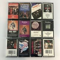 Lot of 12 Different Judas Priest Cassette Tapes - Excellent condition
